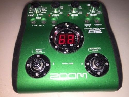 Zoom A2 Acoustic Guitar Effects Pedal Battery Or Psu Great Condition Guitar Effects Pedals Guitar Effects Acoustic Guitar