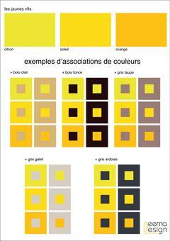 nuancier jaunes