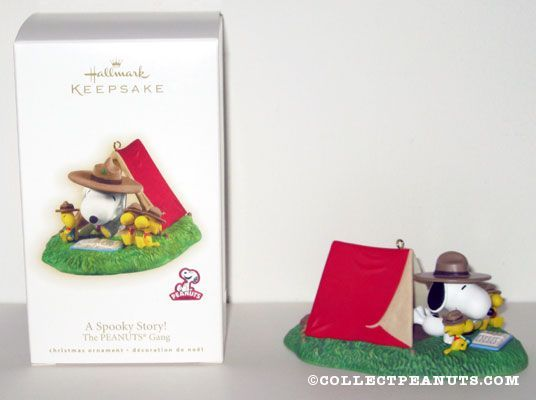 Beagle Scout Snoopy and Woodstock around fire at tent Ornament & Peanuts Hallmark Snoopy u0026 Woodstock Ornaments | Snoopy Woodstock ...