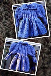Ravelry: Blue Coat for Girls pattern by Luba Roytberg