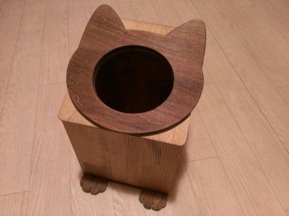 N様専用ですので他の方のご購入はご遠慮下さい。ネコの顔が正面についた木製のゴミ箱です。穴は小さめですがゴミが入れやすいように蓋の部分は斜めになっています。手前... ハンドメイド、手作り、手仕事品の通販・販売・購入ならCreema。