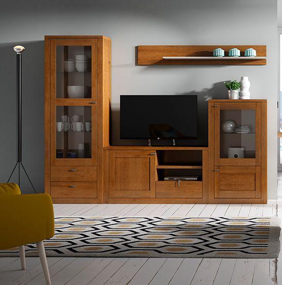 Saloncomedormuebleslospedrochestienda De Muebles Onlinemuebles Modernos Para Saloncomposiciones Modulares Salonmueb Muebles Muebles Color Cerezo Salones Grises