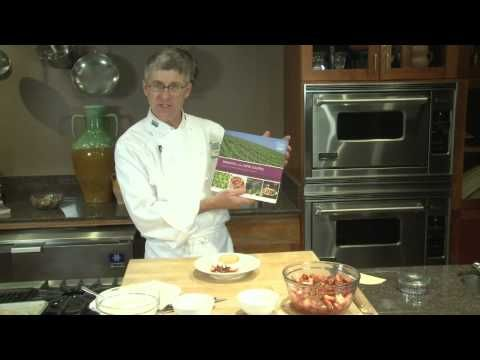 Rhubarb and strawberry shortcakes with gingered créme fraîche