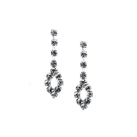 Trio Crystal Drop Earrings Made with Swarovski Elements at 86% Savings off Retail!