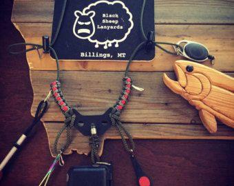 Cuerda de pesca de la mosca por BlackSheepLanyards en Etsy