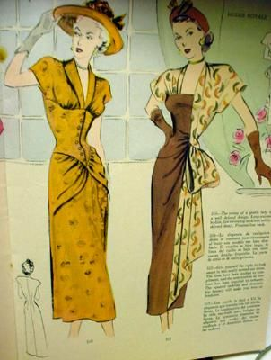Modes Royale 1940s side swag dress--one of the best designs ever!!! by nudeedudee, via Flickr