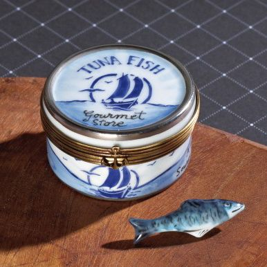 Limoges Tuna Fish Can Box with Fish