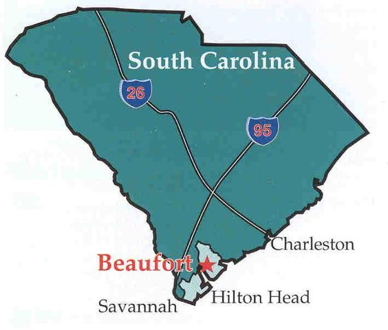 SC Map  The Beautiful Sea Islands Of Beaufort SC