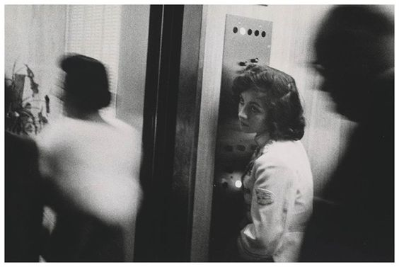 """""""Sense of beauty, grit, and revolution."""" Patti Smith describes Robert Frank's timeless work on The Americans. Elevator Miami Beach, 1955. #50s"""