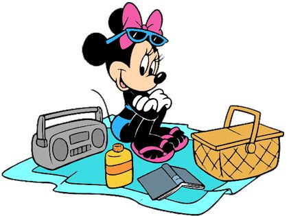 At the beach, Beach clipart and Minnie mouse on Pinterest