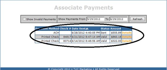 Here is Associate Payment Proof from MCA also known as TVC Matrix - proof of payment receipt