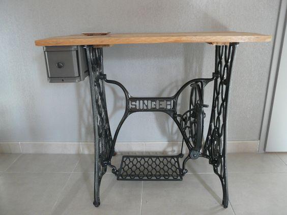 """Ancienne machine à coudre """"SINGER"""""""