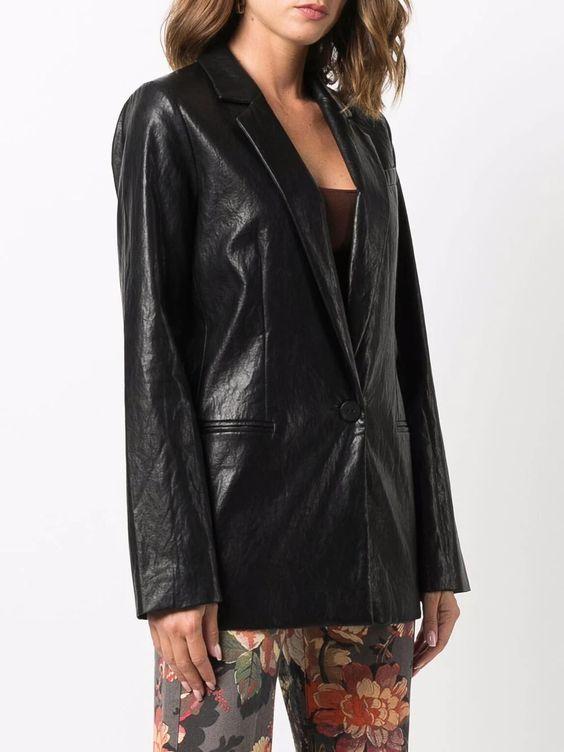 TWINSET coated single-breasted blazer Farfetch