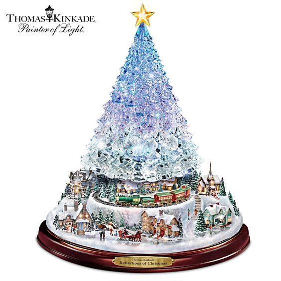 Thomas Kinkade Reflections Of Christmas Tabletop Tree Trees