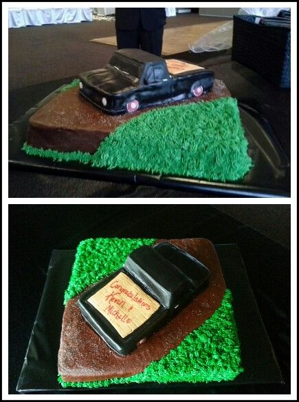 Groom's Cake - My husband love's old trucks and hot rods.  It was a gift to us from dear friends.