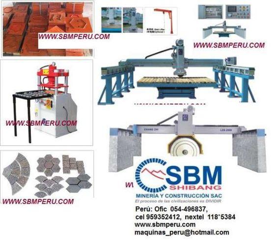 Maquinas para cortar procesar piedra rio granito marmol for Proveedores de marmol y granito