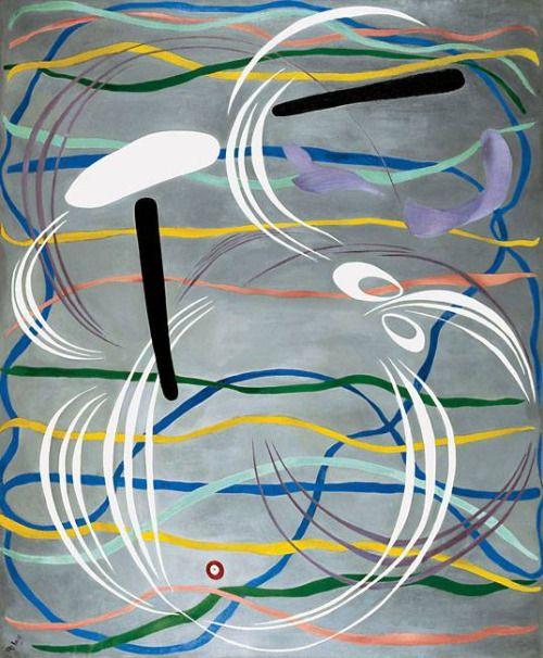 Hilla Rebay ~ Rondo oil on canvas 1943