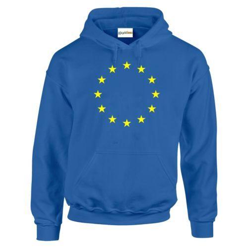 European Union EU Stars HOODIE Flag Brexit Remain Royal Blue