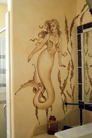 maybe with a different *ahem* top... there is a mermaid on the wall. use this color to paint the wall is very smart, because the color just same as the human body also for the mermaid.