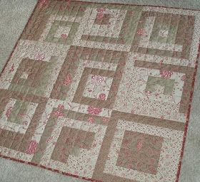 MyWay: Log Cabin quilt