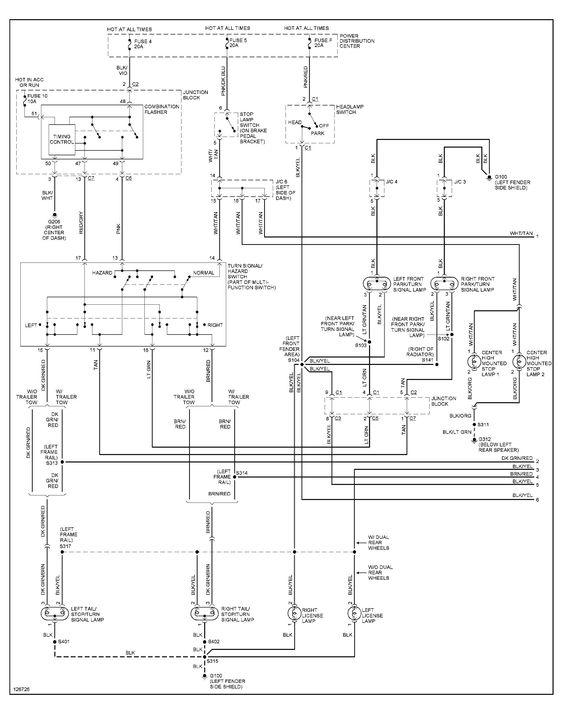 2001 Dodge Ram 1500 Tail Light Wiring Diagram In 2020 Jeep Grand Cherokee Trailer Wiring Diagram Jeep Grand
