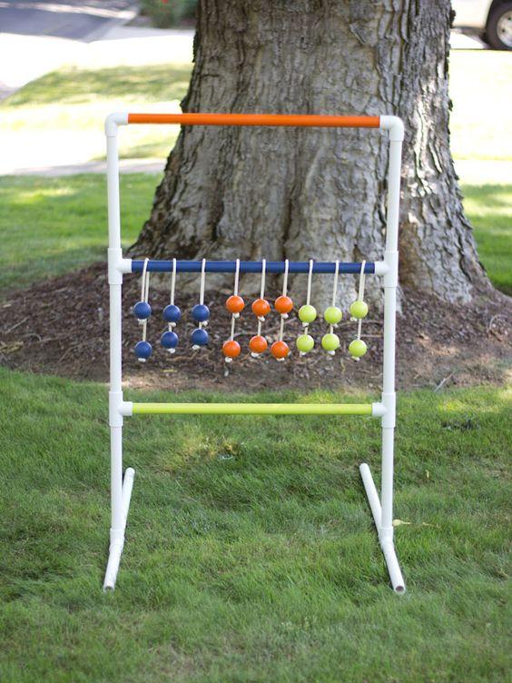 DIY PVC pipe ladder golf game