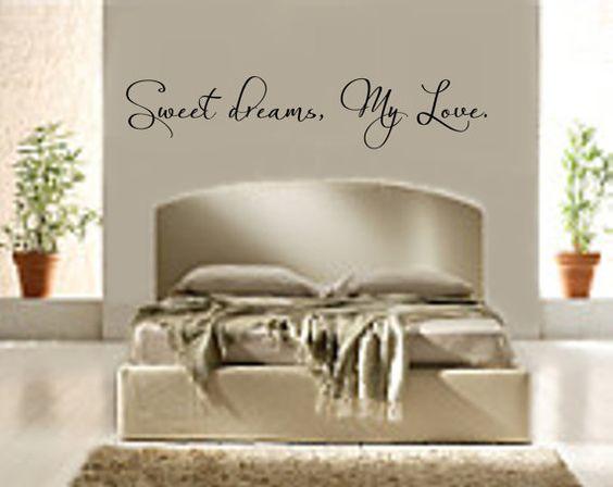Bedroom Decal Sweet Dreams My Love 3 Vinyl by RoyceLaneCreations, $12.00