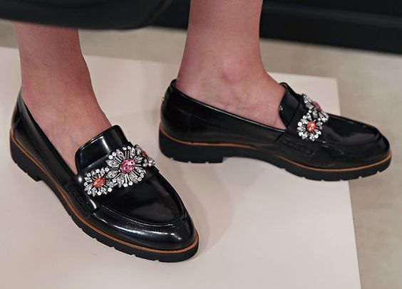 Cool jewelled loafers at Kate Spade AW15.Cool jewelled loafers at Kate Spade AW15.Redonline.co.uk