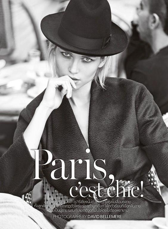 """""""Paris C'est Chic!"""" Hana Jirickova for Vogue Thailand September 2014"""