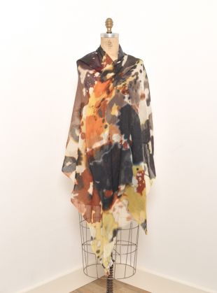 Young British Designers: Pride Rock' Scarf with watercolour floral pattern by Mercy Delta - Such a darkly romantic scarf to add depth and elegance to any outfit.