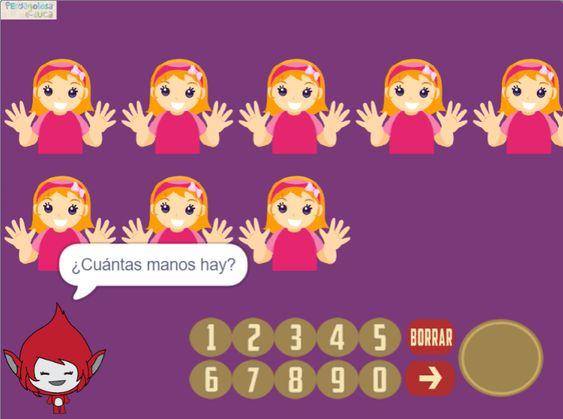 Contar manos multiplicando (1-10×2)