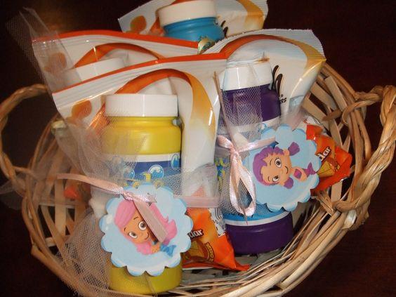 Bubble Guppies Party Favor Idea