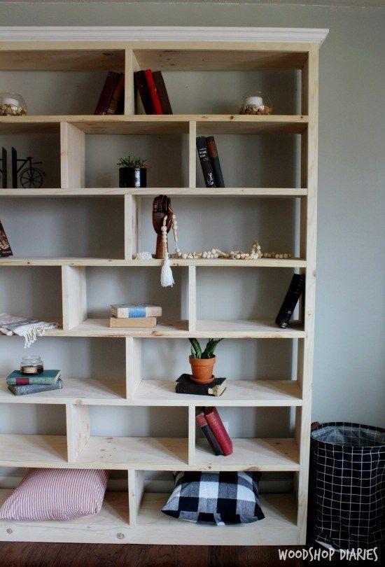 Build A Modern Diy Bookshelf In 6 Easy Steps With Video Bookshelves Diy Modern Bookshelf Design Diy Bookshelf Plans