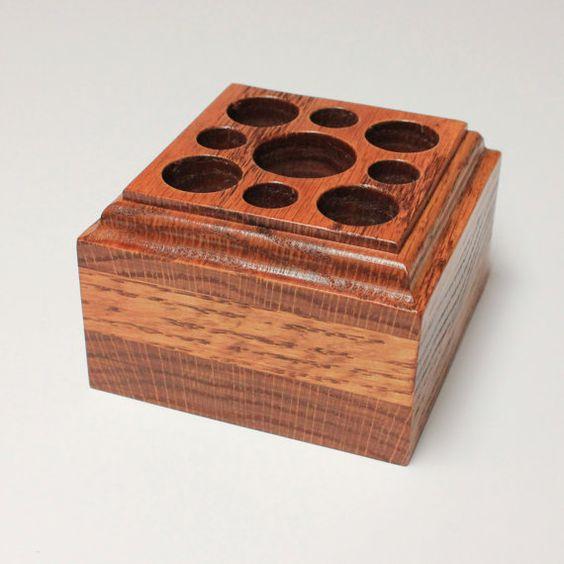 Oak desk caddy and pen holders on pinterest