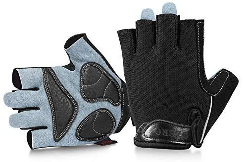 Cycling Gloves Bicycle Bike Half Finger Men Sport Outdoor Road Padded Mountain