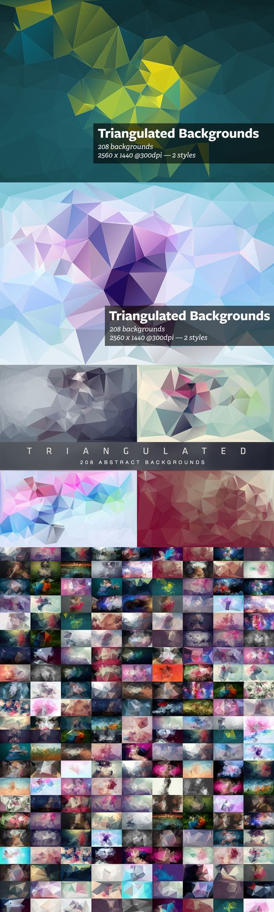 Check out Triangulated - Abstract Backgrounds by beto on Creative Market
