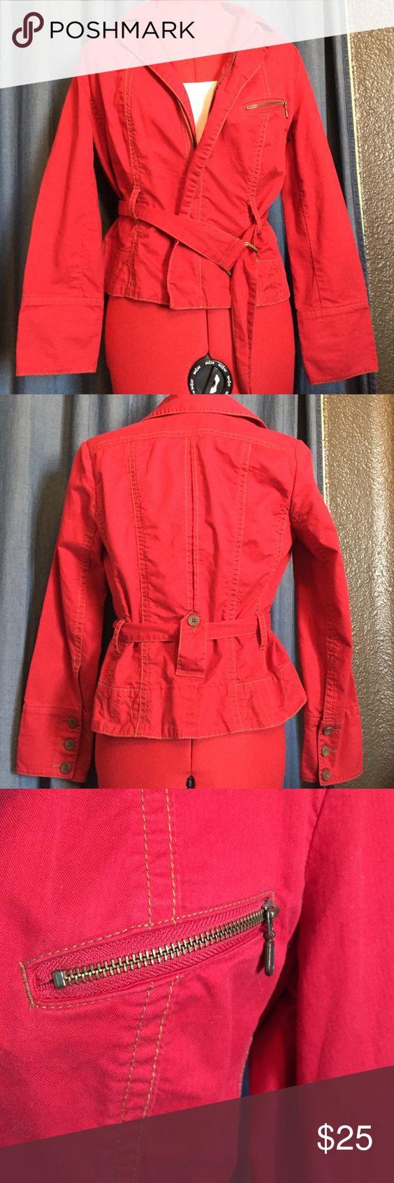 Red Cabi jacket💄 Like new! Super cute and stylish! CAbi Jackets & Coats Pea Coats