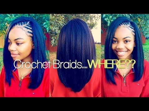 The Neatest Straight Crochet Braids Ever Video Black Hair Information Straight Crochet Braids Crochet Straight Hair Crochet Braids Straight Hair