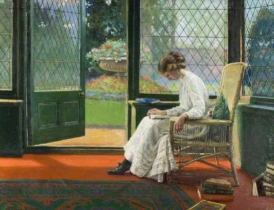 The Library Window - Albert Ranney Chewett, 1877–1965