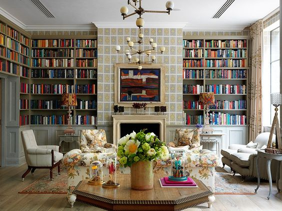 The library at Firmdale Hotels' latest London property, Ham Yard Hotel, which opened in early June
