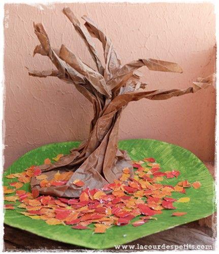 Bricolage on pinterest for Sac pour feuilles mortes