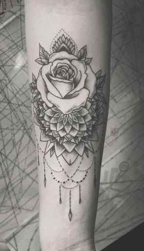 Tattoos For Women Half Sleeve Meaningful Roses Lovely Boho Black Rose Chandelier Forearm Sleeve Tattoos For Women Tattoos For Women Half Sleeve Forearm Tattoo