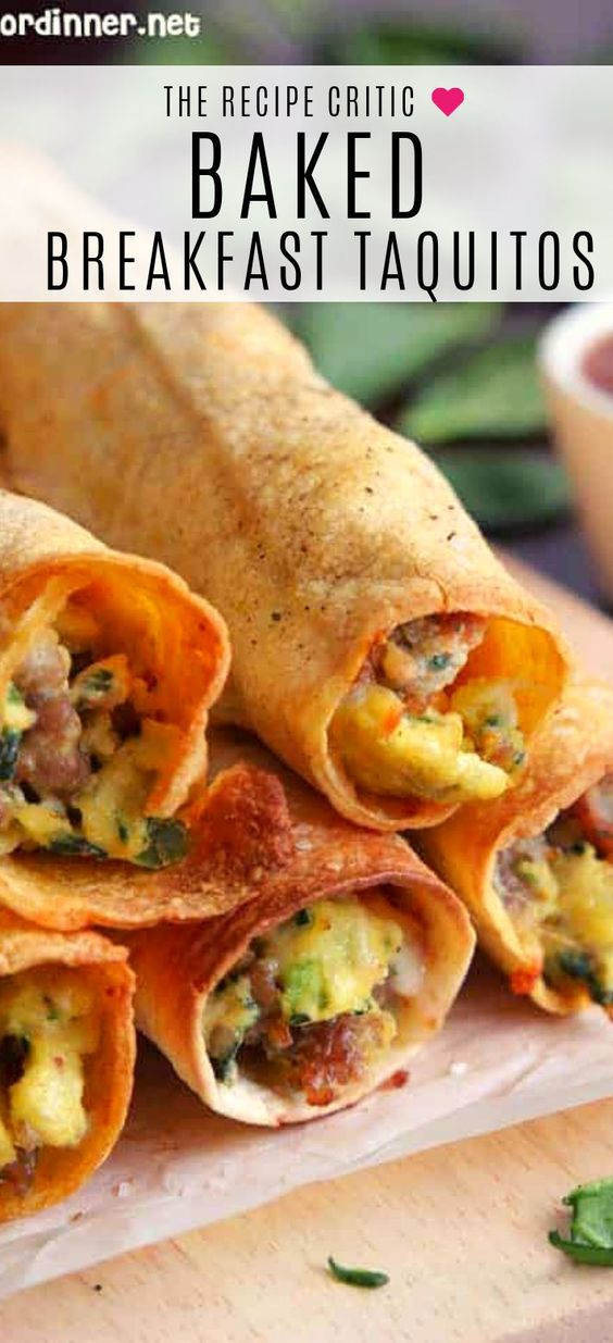 Baked Sausage, Spinach and Egg Breakfast Taquitos | The Recipe Critic
