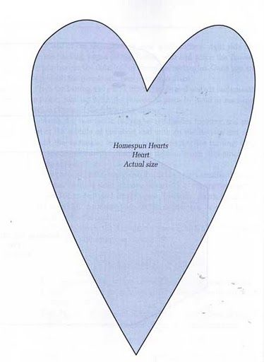 Contos de Outono Artesanatos: Como fazer corações de tecidos