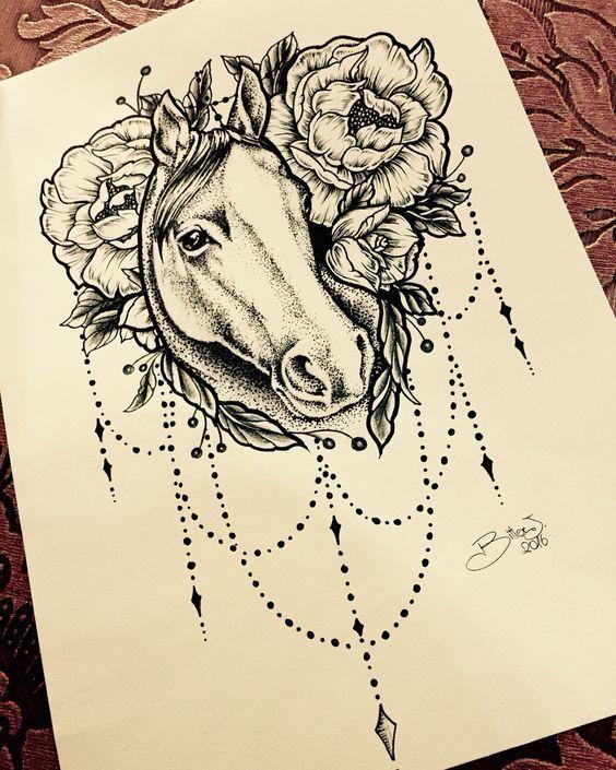 Horse Dreamcatcher Tattoo : horse, dreamcatcher, tattoo, Dreamcatcher, Tattoo, Horse, Design,, Tattoo,, Designs