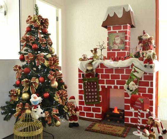 Confira passo a passo com fotos de como fazer uma lareira de papelão e tenha ideias incríveis para sua decoração de Natal!