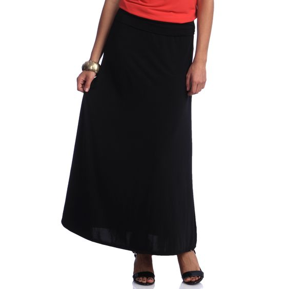 Every women needs a classic, well-fitting black skirt, and this one delivers. With a comfortable elastic waistband and lightweight material, this skirt is the perfect staple for your wardrobe.