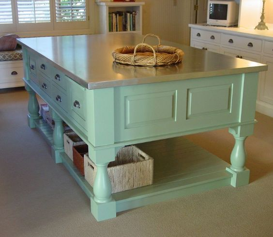 Kitchen Island Instead Of Table: Countertops, Good Ideas And Tables On Pinterest