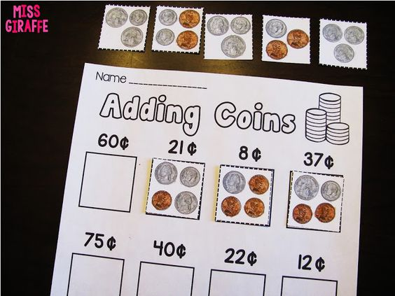 Adding Coins and a lot of other great money activities for first ...