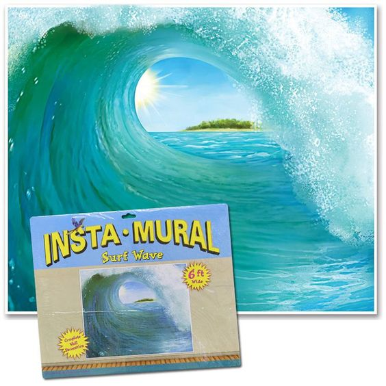 OCEAN/BEACH THEME...Surf Wave Scene Setter   Use with High Tide in Hawaii and Tsunami lesson.